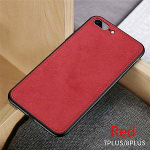 Ultra-thin Canvas Soft Protective Silicon Phone Case For iPhone 7 8 6 6s Plus X Xs Max Xr