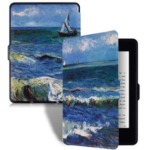 Smart Kindle Paperwhite PU Leather Cover For Amazon Kindle Paperwhite 1 2 3