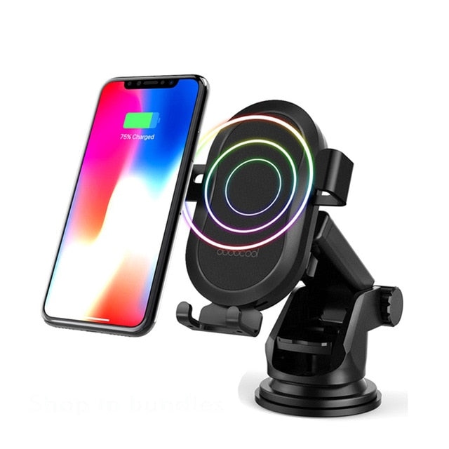 Wireless 10W Car Charger For iPhone X 8 Plus Wireless Charging Pad Car Holder for Samsung Galaxy S9 Note8