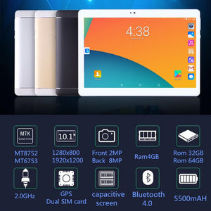 2018 NEW Computer 10.1 inch tablet PC Octa Core Android 8.0 4GB RAM 32GB 64GB ROM 8 Core 10 10.1 Resolution 1280x800