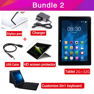 "10.1"" Quad Core Tablet Windows 10 & Android 5.1 OS Cherry Trail Z8350 4G RAM 64G"