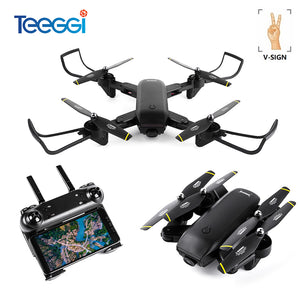 Drone Optical Follow Me RC Quadcopter with Dual Camera HD 1080P FPV Helicopter VS VISUO XS809S SG700 E58