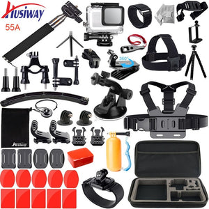 Accessories Kit for GoPro / GoPro HERO  7 6 5 Waterproof Housing Set Black Camera 55A