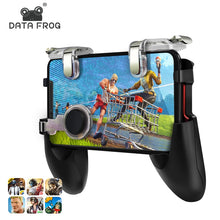 Load image into Gallery viewer, Data Frog for Pubg Game Gamepad Mobile Phone Game Controller l1r1 Shooter Trigger Fire Button for IPhone