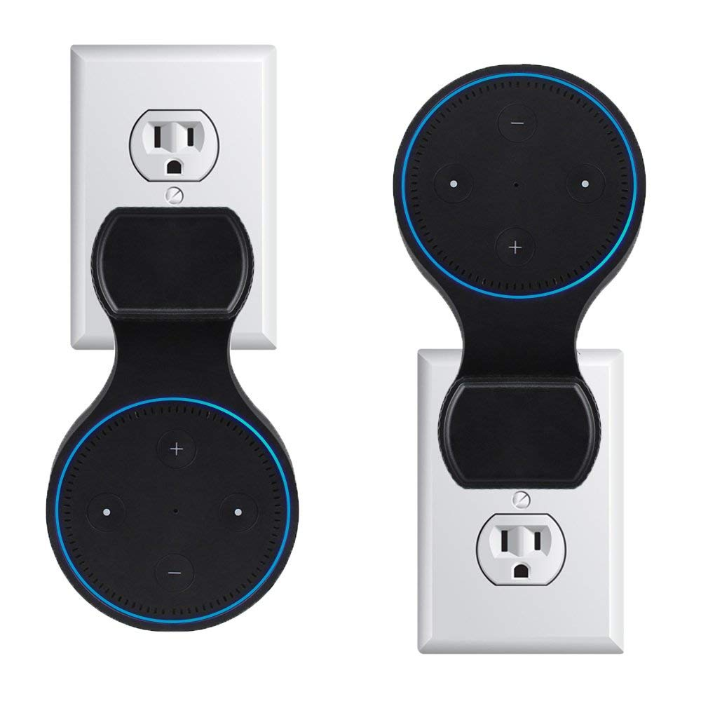 Outlet Wall Mount Holder Case for Amazon Alexa Echo Dot 2 2nd Generation