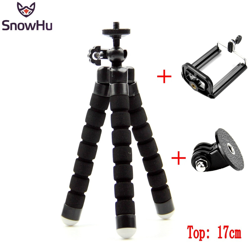 GoPro Flexible Mini OctopusTripod With Screw Mount Adapter For Go Pro Hero 7 6 5 4 3+ for Xiaomi Yi SJCAM Camera LD06