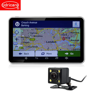 "7"" GPS Navigation Android DVR Camcorder 16GB Quad Core 4 CPUs Radar Detector Rear View Camera"