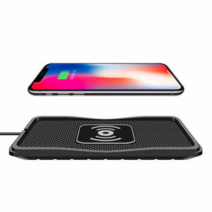 Wireless Car Charging Pad for iPhone X 8plus Samsung S7 S9 S6 Note8