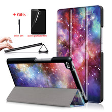 Load image into Gallery viewer, Trifold Leather Stand Case For Lenovo Tab 4 8 TB-8504F TB-8504N TB-8504X +Film and Pen