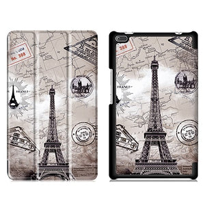Trifold Leather Stand Case For Lenovo Tab 4 8 TB-8504F TB-8504N TB-8504X +Film and Pen