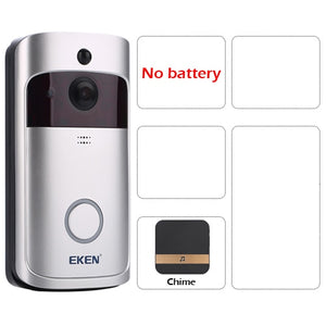 Smart WiFi Video Doorbell Camera Visual Intercom with Chime Night Vision IP Wireless Home Security
