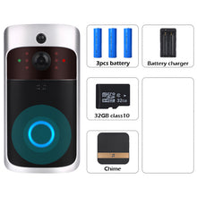 Load image into Gallery viewer, Smart WiFi Video Doorbell Camera Visual Intercom with Chime Night vision IP Wireless Home Security