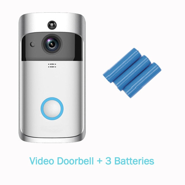 Smart Wireless WiFi Video Doorbell Home Security Camera Visual Intercom with Chime Night Vision Home