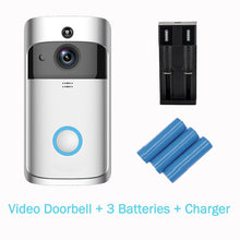Load image into Gallery viewer, Smart Wireless WiFi Video Doorbell Home Security Camera Visual Intercom with Chime Night Vision Home