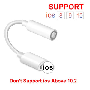 IOS 11 12 Headphone Adapter For iPhone 7 8 X AUX Adapter For Lighting Female To 3.5mm Male Adapters Headphone Jack Cable