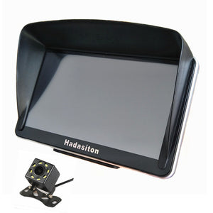 "7"" GPS Navigation Touch Screen Sat Nav 256M/8G Bluetooth AV-IN With Sunshade Wireless Rearview Camera Optional"