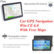 "Load image into Gallery viewer, 7"" GPS Navigation Touch Screen E-Book Video Audio Game Player With Win CE 6.0 With Free Maps"
