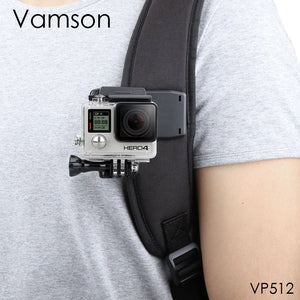 GoPro Accessories Backpack Clip Clamp Mount for GoPro HERO 7 6 5 4 for Yi 4K for SJCAM for EKEN Action Camera