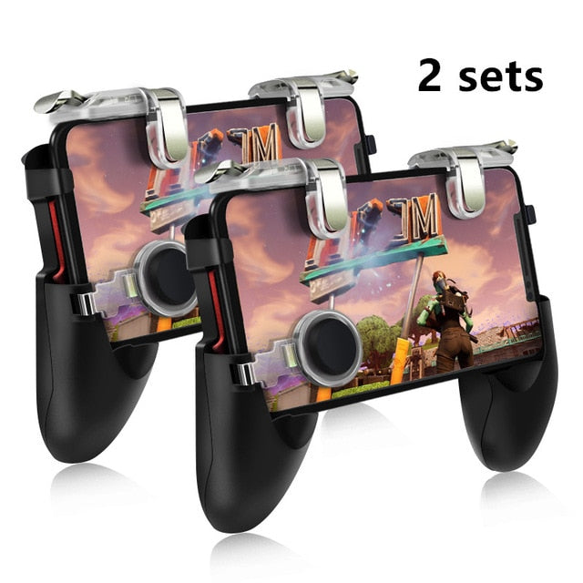 Data Frog for Pubg Game Gamepad Mobile Phone Game Controller l1r1 Shooter Trigger Fire Button for IPhone