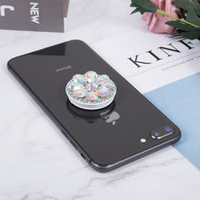 Load image into Gallery viewer, Round Diamond Phone Holder Expanding Finger Ring Stand Grip Mount Universal Socket