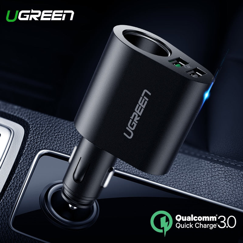 Dual USB Quick 3.0 Car Charger Adapter 60W for iPhone X 8 Samsung Galaxy S9 S8 LG V20