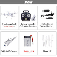 Load image into Gallery viewer, SYMA X5SW Drone with WiFi HD Camera Real-Time Transmit FPV Quadrocopter 4CH