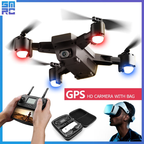 SMRC S20 Wifi Drone Quadrocopter HD Camera with GPS Follow Me FPV Racing Drone Helicopter