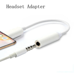 Lighting 3.5mm Audio Jack Splitter Converter Earphone Headphone Adapter For iPhone 7 8 XS Max X AUX