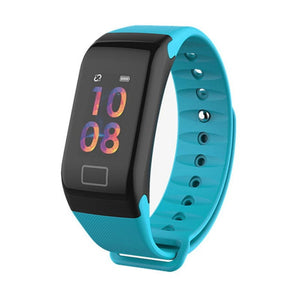 Color Screen Smart Watch With Heart Rate Blood Pressure Monitor Fitness Tracker IP67 iPhone Android Phones