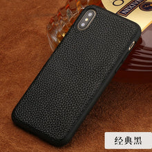 Load image into Gallery viewer, Genuine Leather Rear Cover for Apple iPhone X Back Case High Quality