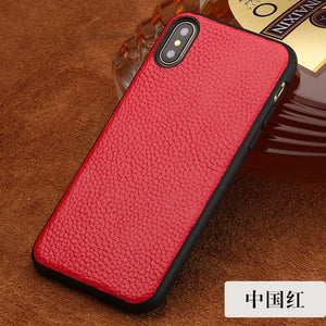 Genuine Leather Rear Cover for Apple iPhone X Back Case High Quality