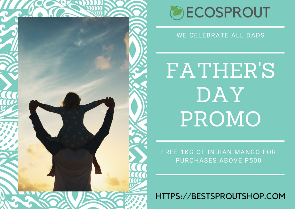 FREE mangoes on Father's Day! Ecosprout now offers fresh produce. Delivery to your doorstep.