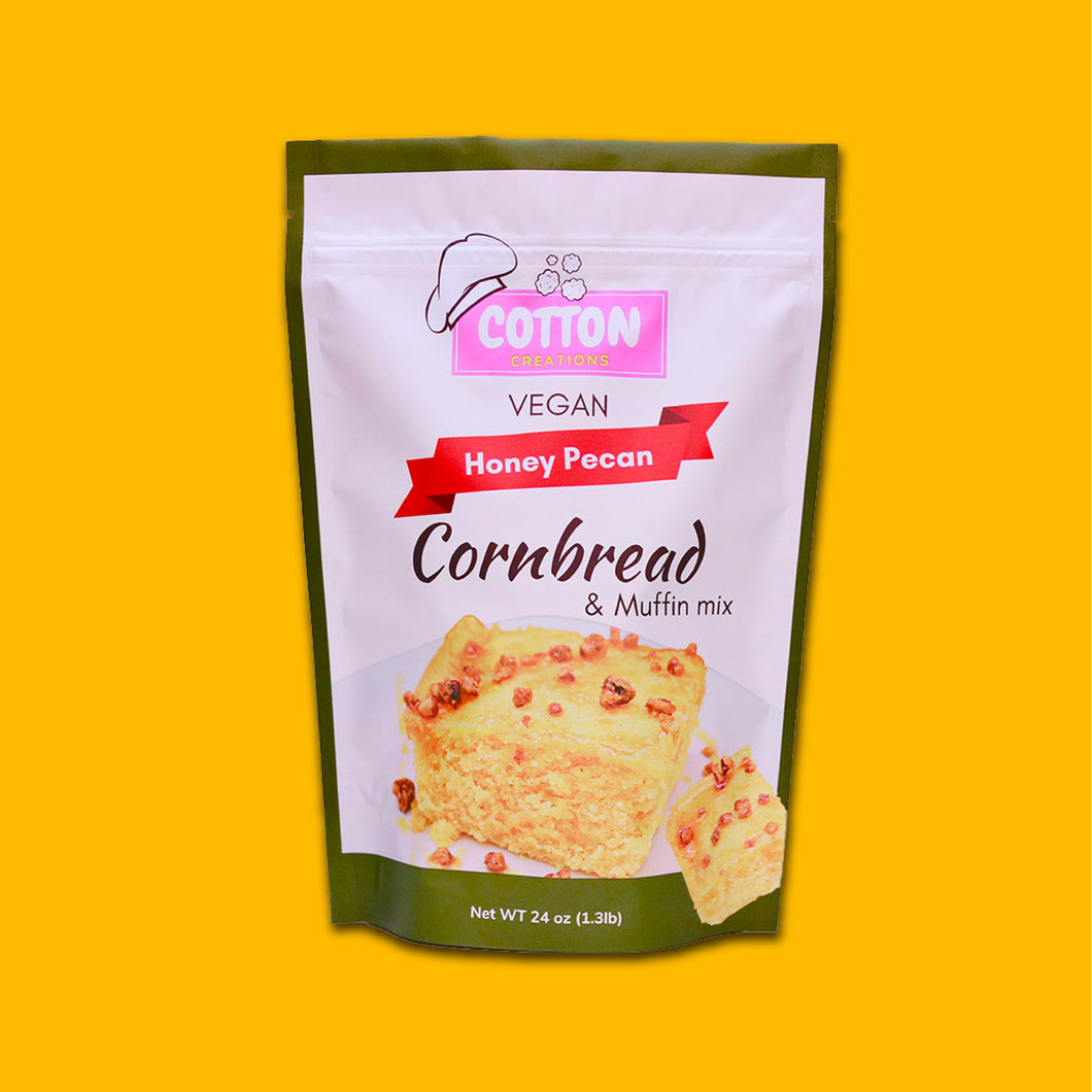 Cotton Creations - Vegan Honey Pecan Cornbread Mix