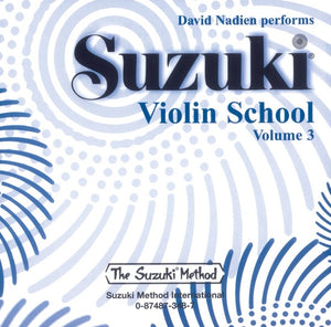 Suzuki Violin School, Volume 3 - CD