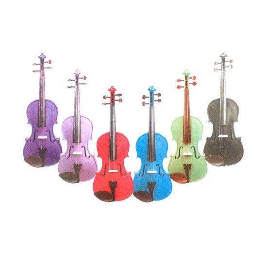 Stentor Harlequin Coloured Violin Outfit - Strings, Bows & More