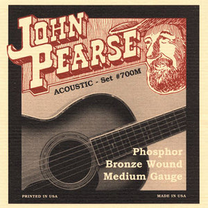 John Pearse 700M Phosphor Bronze Wound Acoustic Guitar 6 String Set