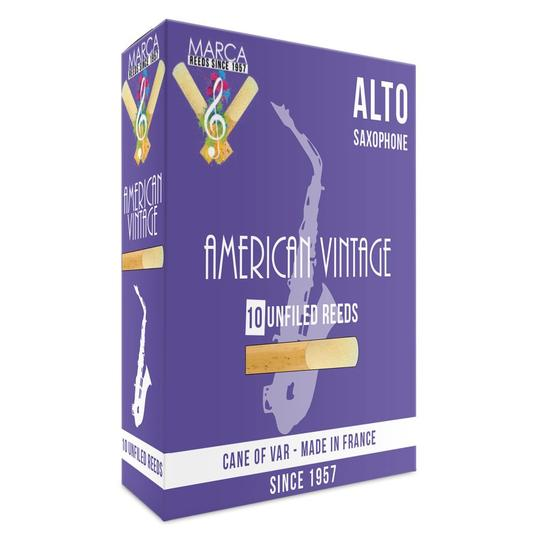 Marca American Vintage Alto Saxophone Reeds - Box of 10