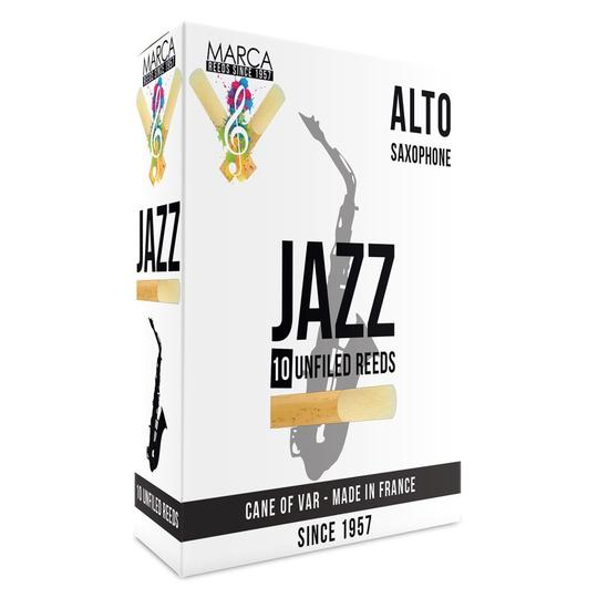 Marca JAZZ Unfiled Alto Saxophone Reeds - Box of 10