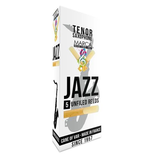 Marca JAZZ Unfiled Tenor Saxophone Reeds - Box of 5