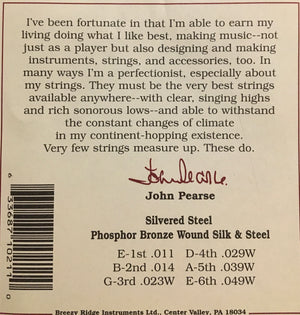 John Pearse 510L Phosphor Bronze & Silk Wound Acoustic Guitar String Set, Light