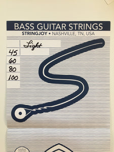 StringJoy Bass Guitar Strings, Light