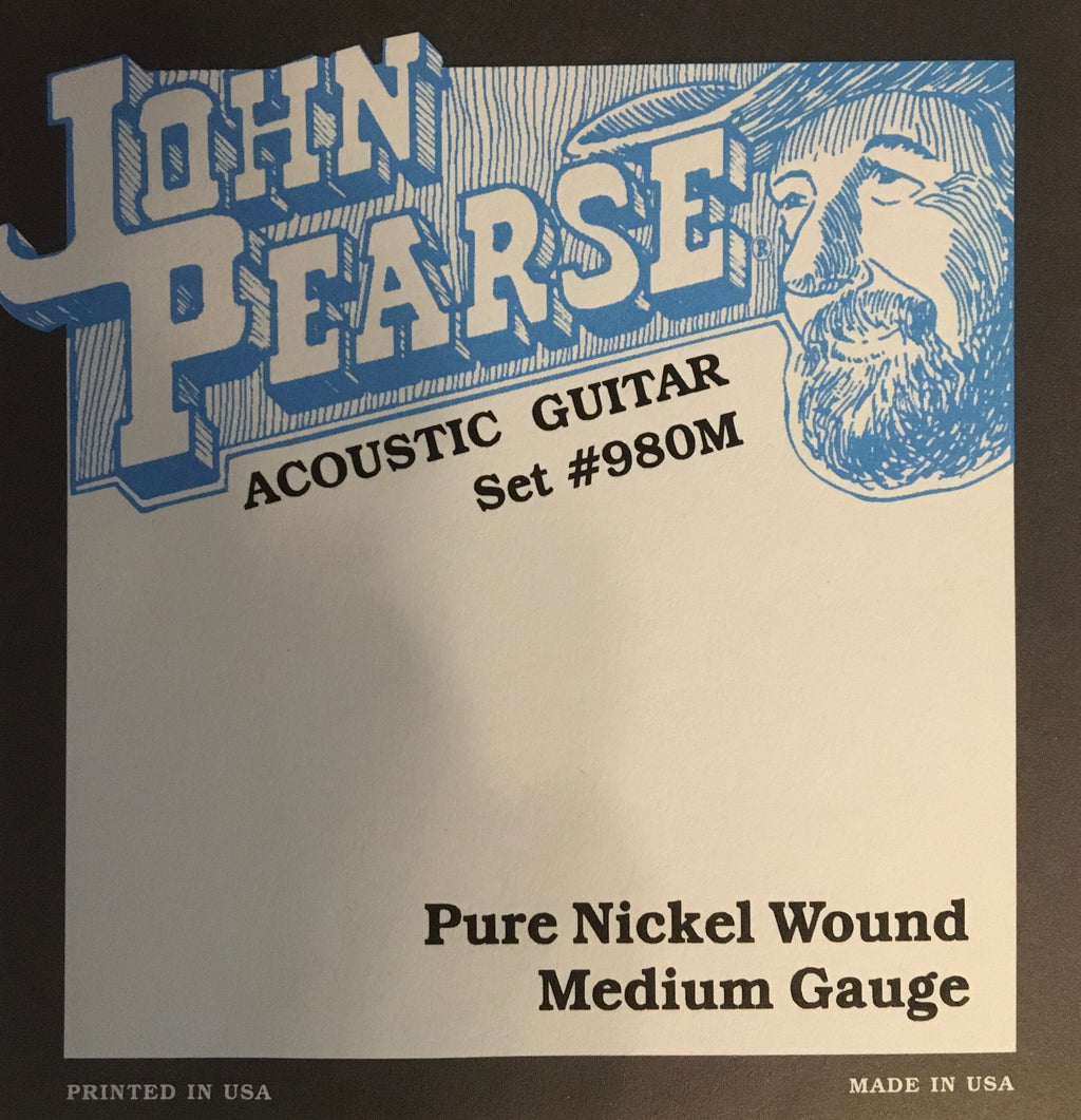 John Pearse 980M Pure Nickel Wound Acoustic Guitar String Set