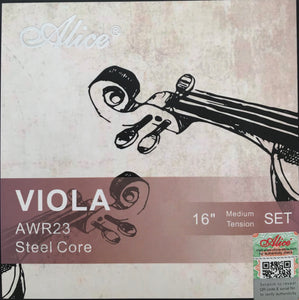 Alice AWR23 Steel Core Viola String Set