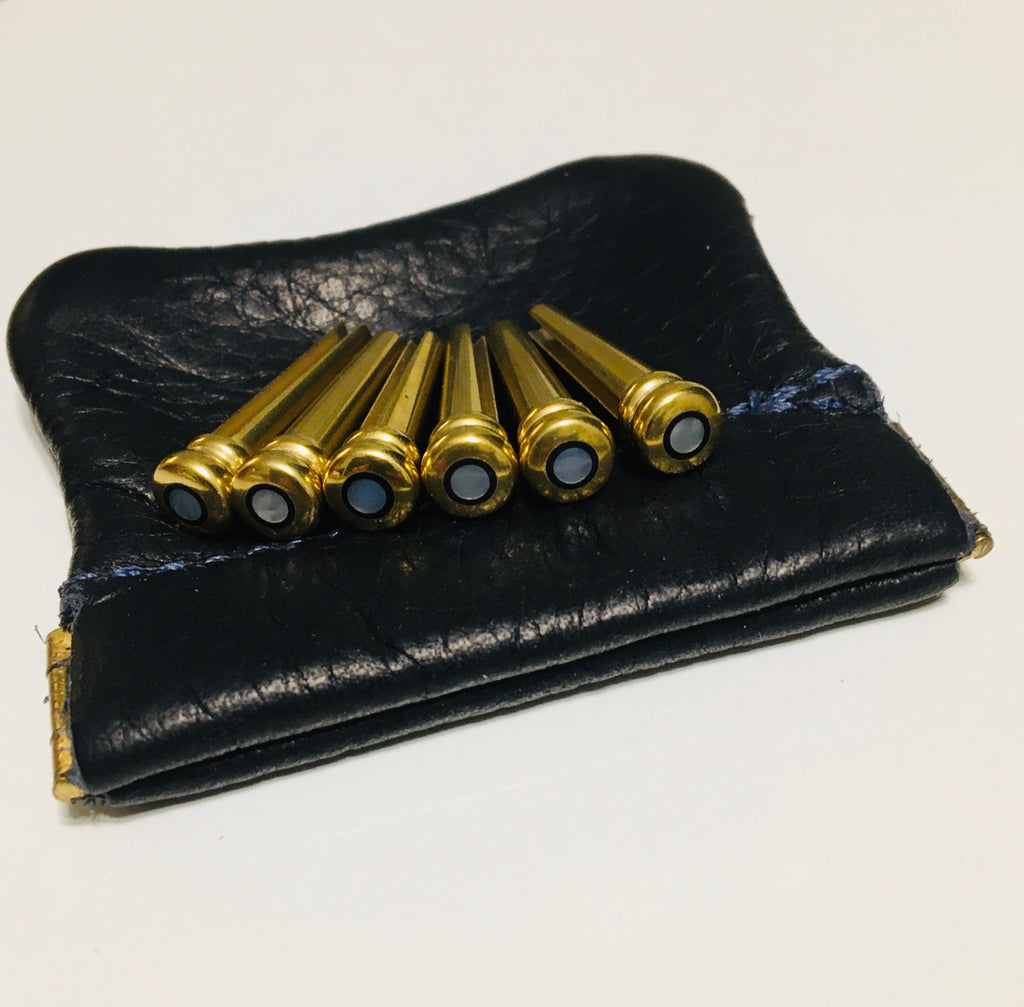 John Pearse KingPins Brass Bridge Pin Set in a Bag