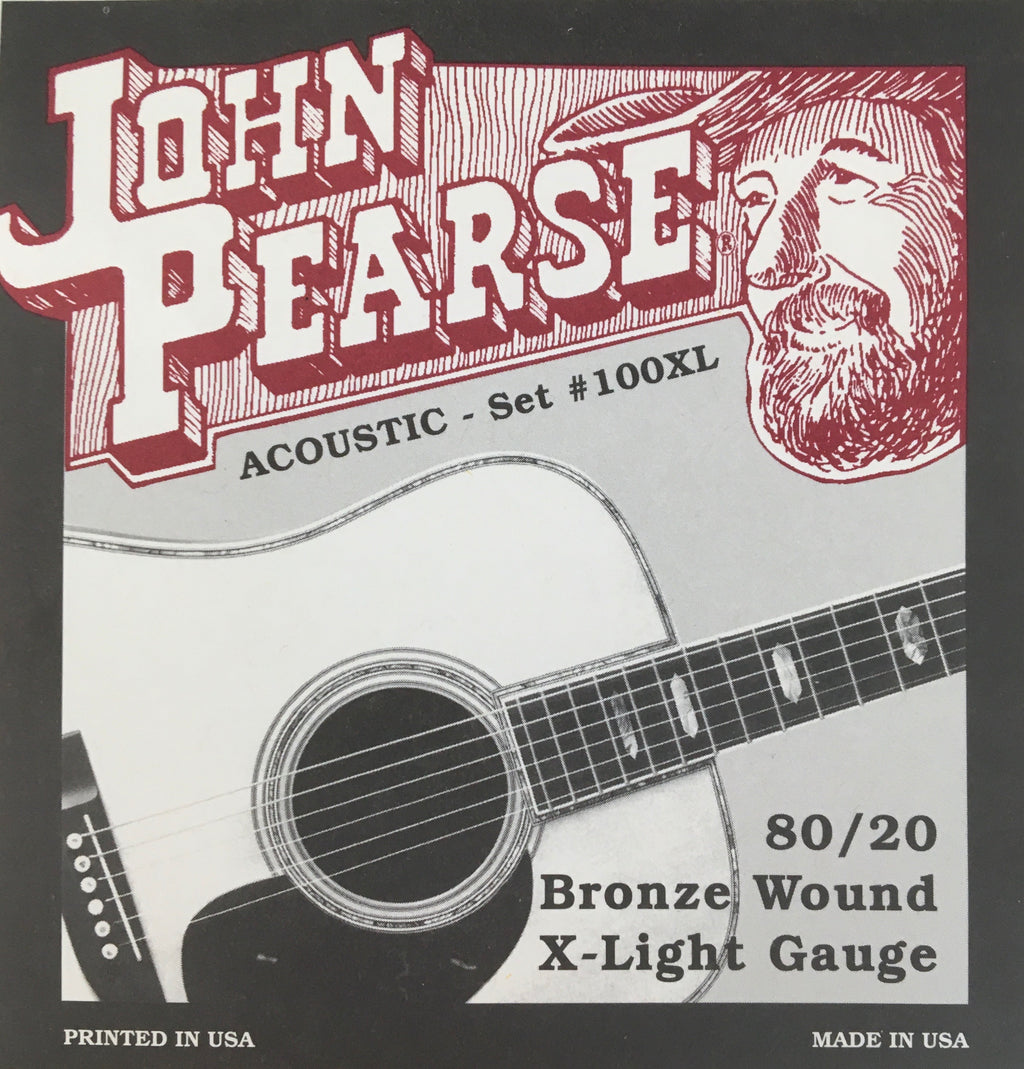 John Pearse 100XL Bronze Wound X-Light Acoustic Guitar String Set