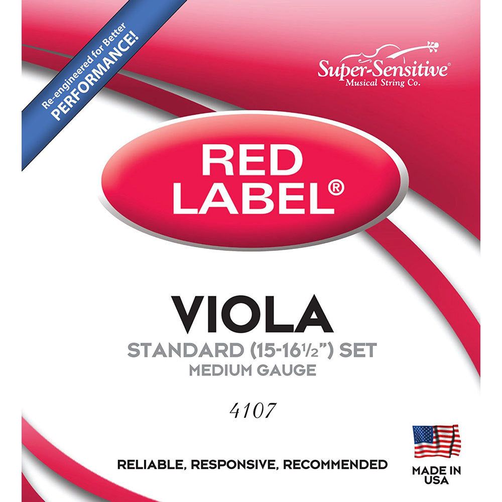 Red Label Super-Sensitive Viola String Set - Strings, Bows & More