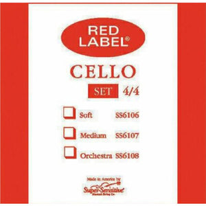 Red Label Super-Sensitive Cello Strings - Strings, Bows & More
