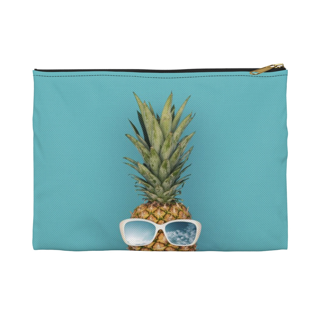 Happy Pineapple Makeup or Pencil Pouch