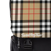Load image into Gallery viewer, Perfect Plaid in Tan - Unisex Casual Shoulder Backpack