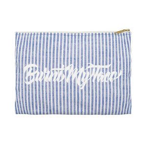 Stripe Sweater Makeup or Pencil Pouch